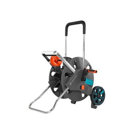 GARDENA AquaRoll L Easy 18520-20 gris, turquoise, orange Dévidoir de tuyau sur roues nu
