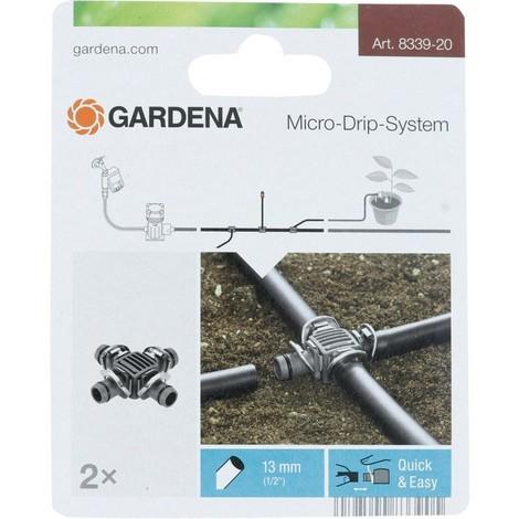 Gardena Dérivation en croix Micro-Drip-System Noir/Orange 35 x 20 x 19 cm 08339-20