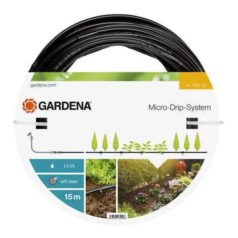 """GARDENA Extension de tuyau à goutteurs intégrés de surface 4,6 mm (3/16"""") (1362-20)."""