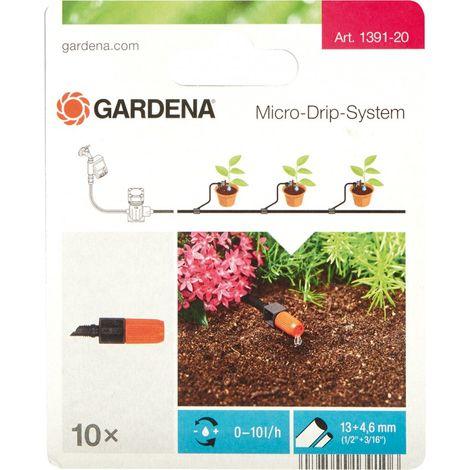 Gardena Goteador Micro-Drip-System negro/Naranja 35 x 20 x 19 cm - 10 unidades.