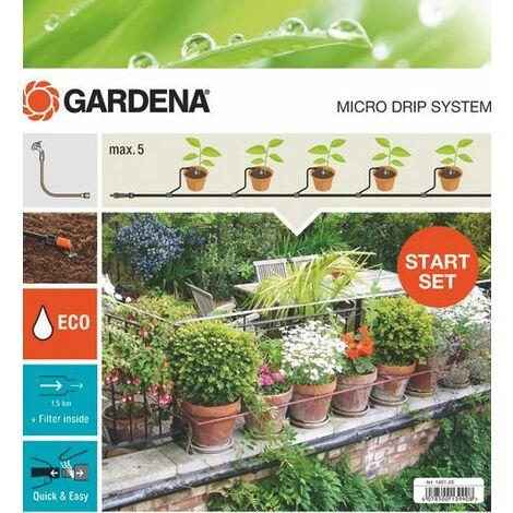 Gardena Kit d'arrosage goutte-à-goutte pour plantes en pots S - 13000-32