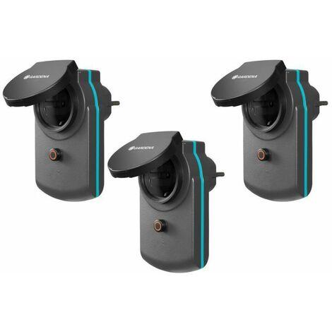 Gardena Lot de 3 prises électriques connectées smart Power