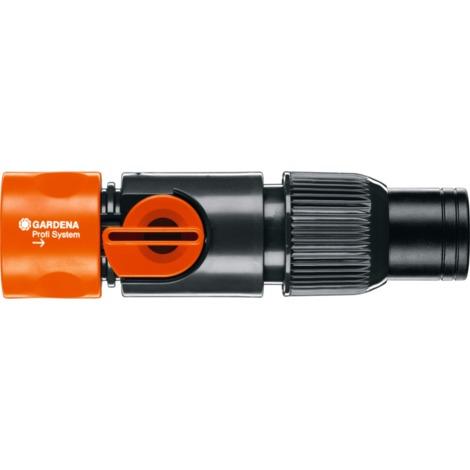 """GARDENA Profi-System Regulierstop (2819-20), Schlauchstück, schwarz/orange, 19 mm (3/4"""")"""