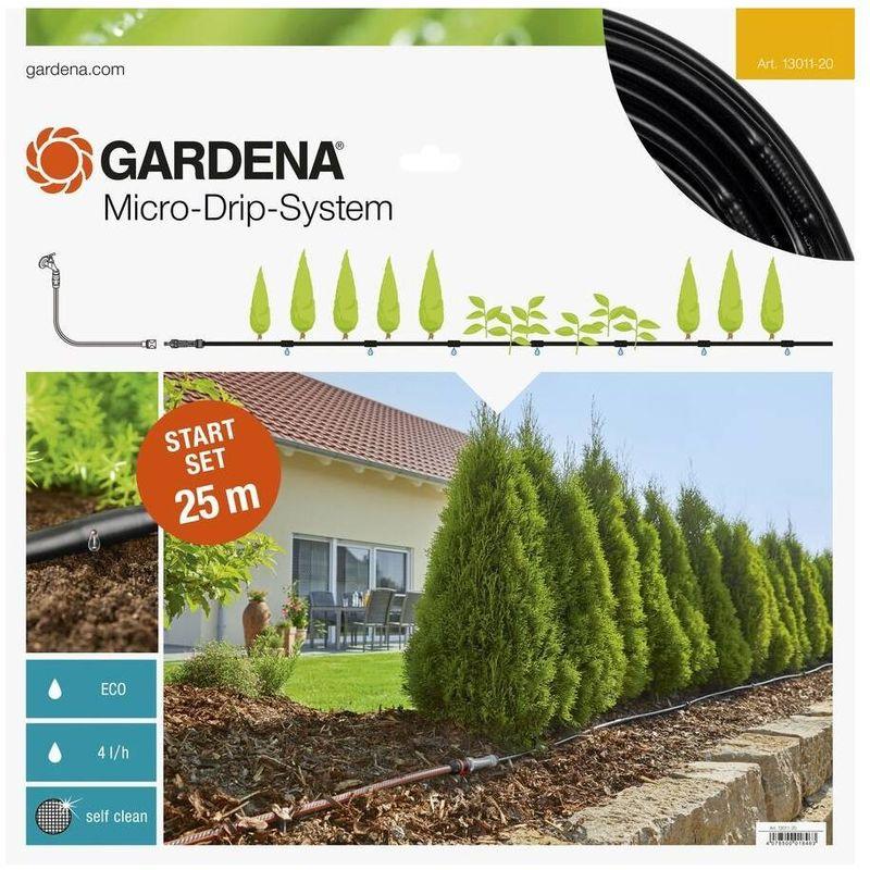 Gardena 13011-20 Set de inicio para hileras M 25m Contenido Reductor presion 1000 Tubo inst Tapon