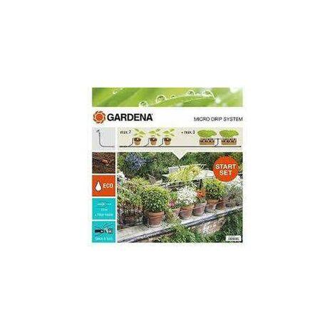 Kit de sistema de microgoteo para plantas en maceta - ideal para 5 macetas