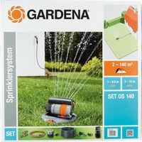 Gardena Sprinklersystem Set mit Viereckregner OS140