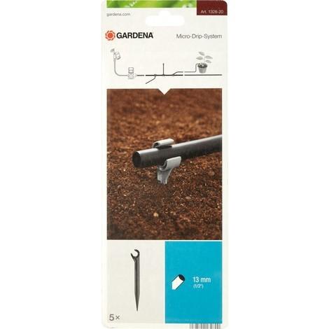 Gardena Support de tuyau Micro-Drip-System Noir 35 x 20 x 19 cm - 1/2 - 13 mm - 5 pièces