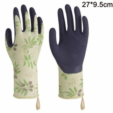 Gardening gloves Tools Bamboo Working Gloves for Women and Men. Ultimate Barehand Sensitivity Work Glove for Gardening, Fishing, Restoration Work & More, green, L