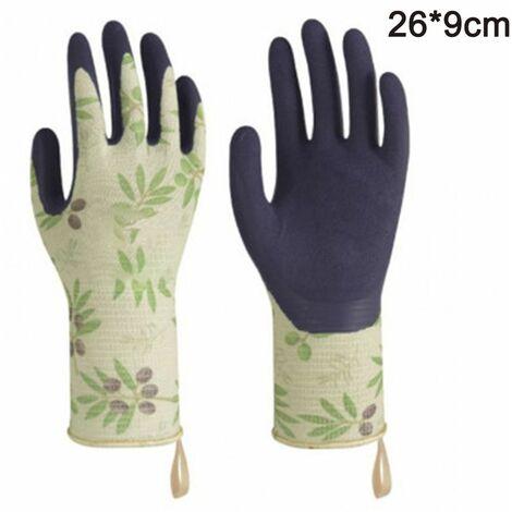Gardening gloves Tools Bamboo Working Gloves for Women and Men. Ultimate Barehand Sensitivity Work Glove for Gardening, Fishing, Restoration Work & More, green, M