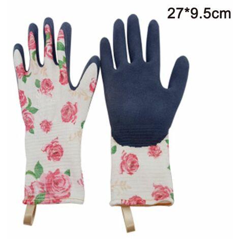 Gardening gloves Tools Bamboo Working Gloves for Women and Men. Ultimate Barehand Sensitivity Work Glove for Gardening, Fishing, Restoration Work & More, pink, L