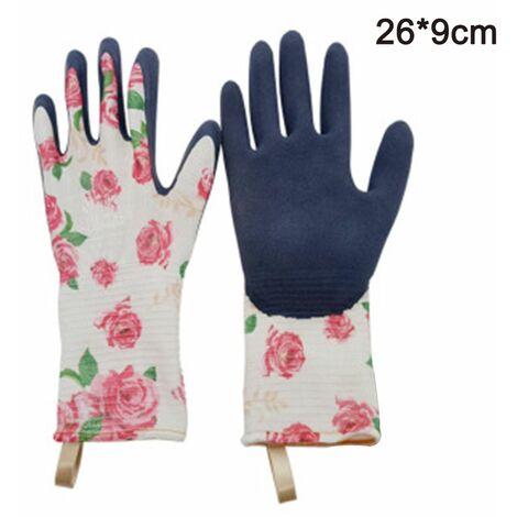 Gardening gloves Tools Bamboo Working Gloves for Women and Men. Ultimate Barehand Sensitivity Work Glove for Gardening, Fishing, Restoration Work & More, pink, M