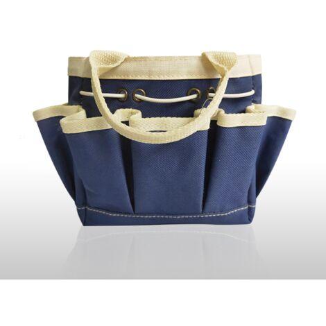 "main image of ""Gardening Tool Storage Bag , Garden Tool Holder Tote Bag Heavy Duty for Tool Set, Kit, Garden Tool Bag for Indoor and Outdoor, Organiser(Navy blue)"""