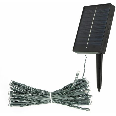 GardenKraft 17460 50 Warm White Solar Powered Outdoor LED String Lights / IP44 Weatherproof / Auto-On / Garden, Weddings, BBQ's, Parties