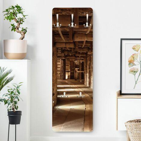 Garderobe - Alte Goldmine - Braun Größe HxB: 139cm x 46cm