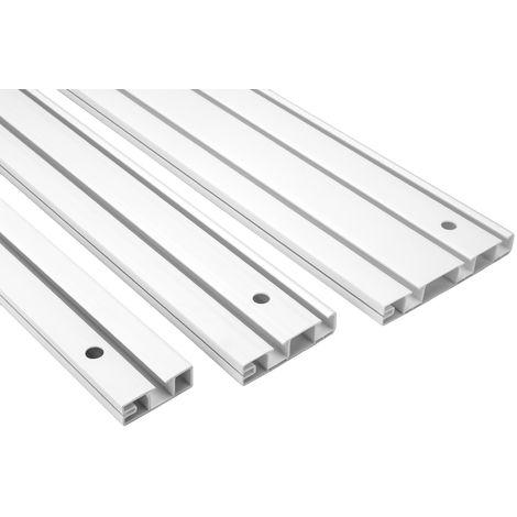 Gardinenschiene | PVC |weiß | stoßfest | Hexim | OM