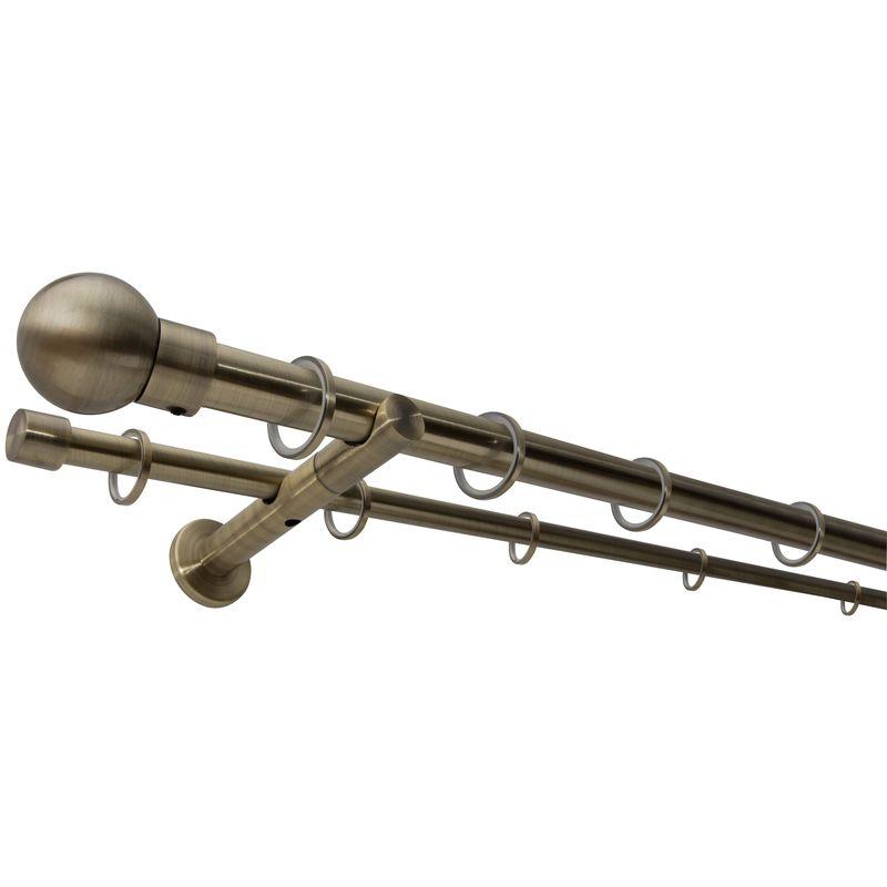 Stilgarnitur ausziehb 130-240cm schwarz Gardinenstange