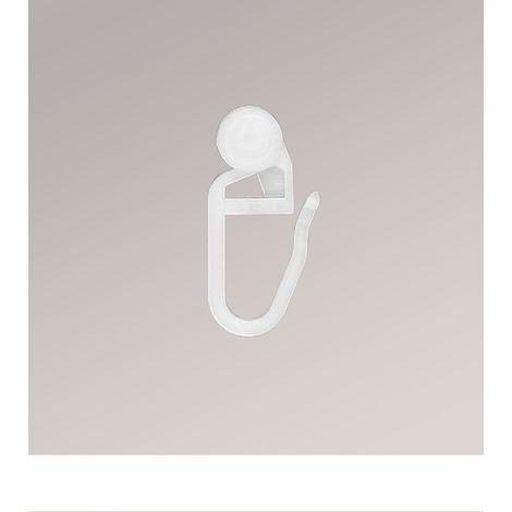 Gardinenstore Zubehoer - Innenlaufhaken 100 Stk. Höhe: 2.50cm weiß/weiß 18314-54343