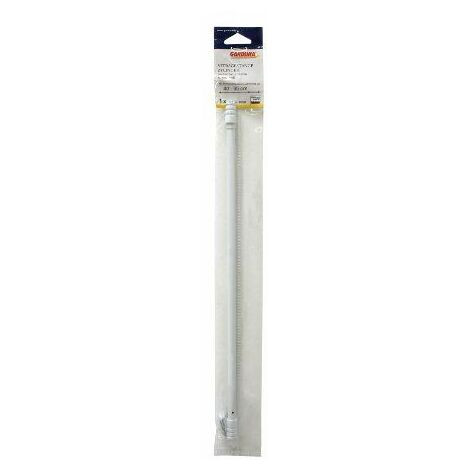 Gardinia 30761 tringles style vintage cylindre 10 mm longueur 60-85 cm avec 2 supports blanc