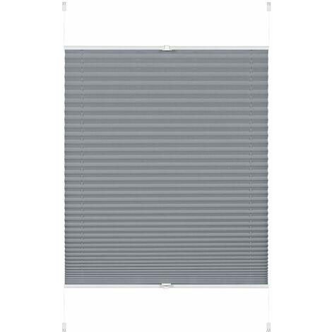 GARDINIA EASYFIX Rideaux Plissées Greta à Fixer par Serrage, Opaques, Kit de Montage Inclus, Rauchblau, 70 x 130 cm (LxH)