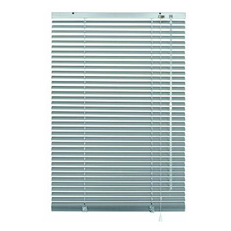 GARDINIA Store Vénitien en Aluminium, Fixation au Mur et au Plafond, Kit de Montage Inclus, Store Vénitien Aluminium, Argenté, 60 x 140 cm (LxH)