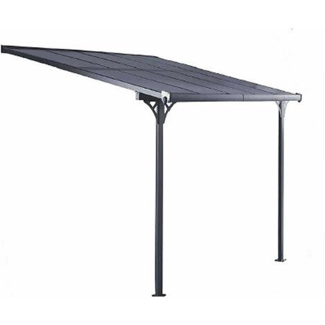 Gardiun Pergola Elliot - 11 M² 435 cm x 254 cm x 220 cm / 260 Aluminium Et Polycarbonate