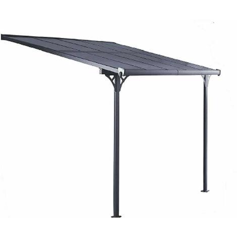 Gardiun Pergola Elliot - 9,5 M² 314 cm x 300 cm x 225 cm / 270 Aluminium Et Polycarbonate