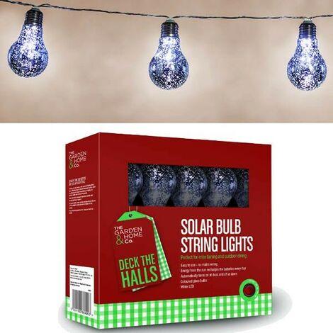 Gardman 18824 8 Silver Foil Bulb String Lights Lightbulbs LED Battery Garden
