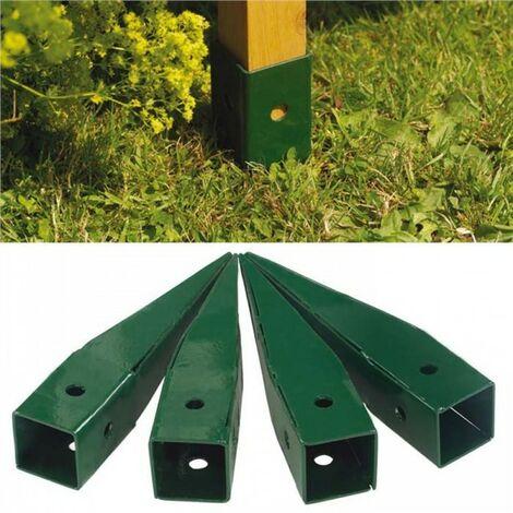 Gardman 4 x Metal Ground Spikes Elegant Wooden Garden Arch 07715 07713