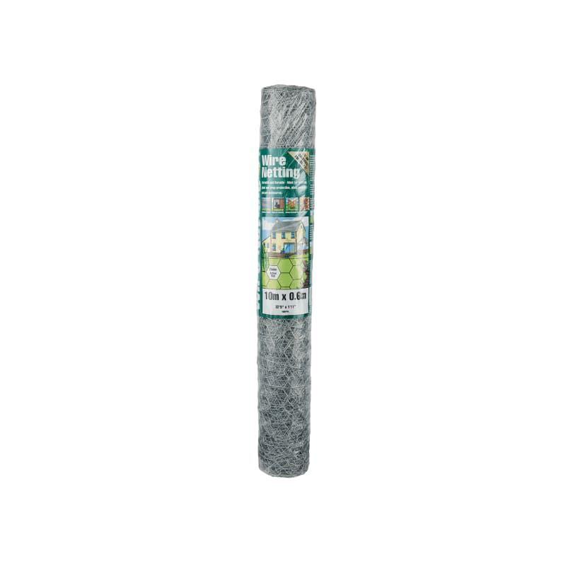 Image of Galvanised Wire Netting 25mm Hexagon, 10 x 0.9m - Gardman