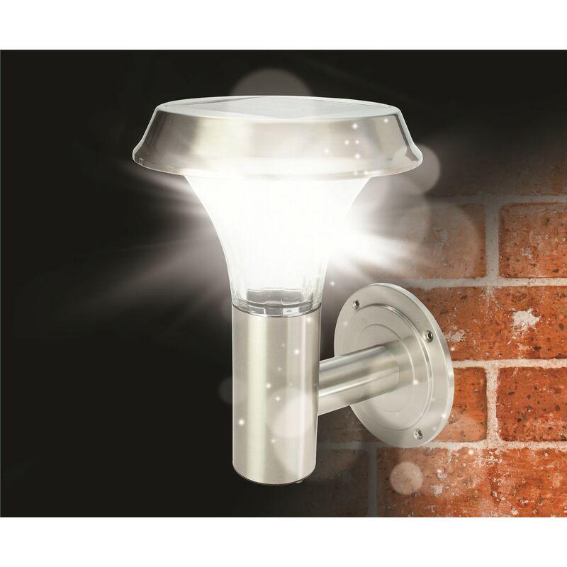 Image of Gardman L22108 Stainless Steel Wall Solar Light Cole Bright Ultra 10 Lumens