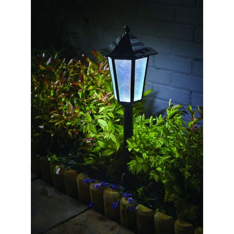 Gardman L26415 Motion Sensor Black Uffington Lantern Post Solar Light