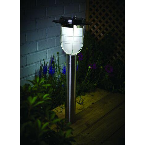 Gardman Motion Sensor Stainless Steel Elton Fishermans Post Solar Light
