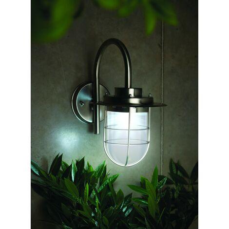 Gardman Motion Sensor Stainless Steel Elton Fishermans Wall Solar Light