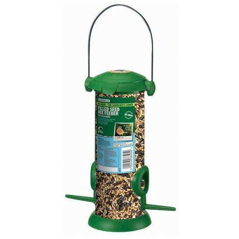 Gardman Seed Filled Flip Top Wild Bird Seed Feeder A02237 Garden Inc 280g Seed