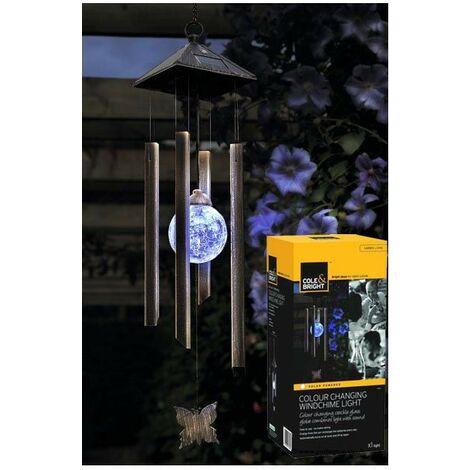 Gardman Solar Garden Patio Light Windchime Colour Changing L25203 Cole & Bright
