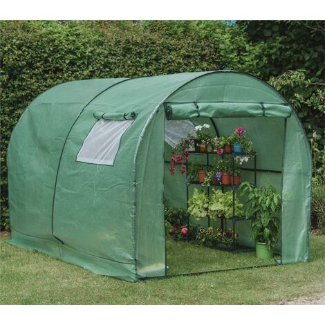 """main image of """"Gardman Walk In Polytunnel Replacement Reinforced Cover PE Greenhouse"""""""
