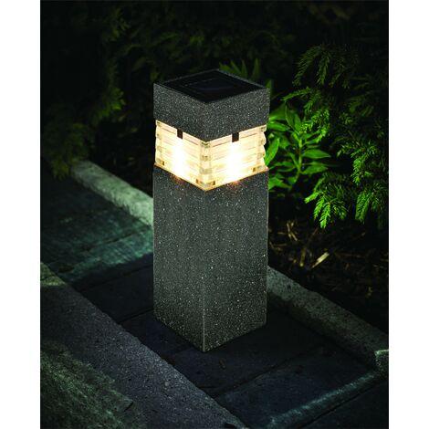 Gardman Woburn Dual Power Bollard Post Solar Light Cole & Bright 10 Lumen L22123