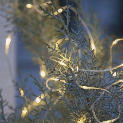 Garland 200 micro LED 20 metros blanco cálido exterior
