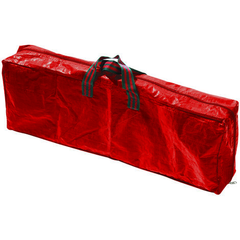 Garland Christmas Gift Wrap / Wrapping Paper Storage Bag - Red