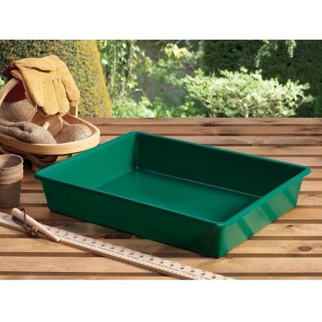 Garland Deep Garden Tray - Multi Purpose Green Plastic Tray