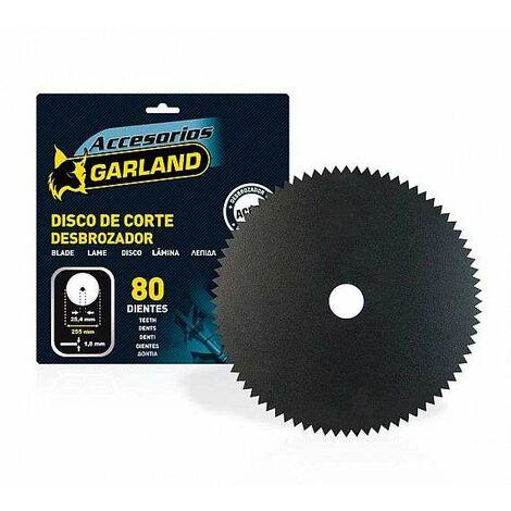 Garland Disco Desbrozadora 30Cc 255*1.8 80 Dientes Arbusto Arbol