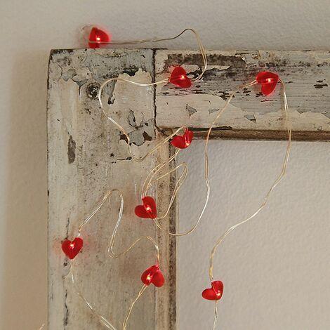 Garland en micro pilas LED corazón