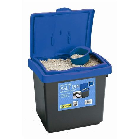 Garland Garden Winter Salt Bin Blue Lid for Storage made from Plastic with Scoop
