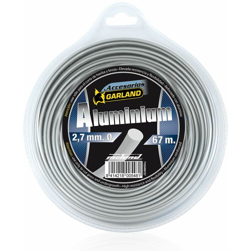 Garland Hilo Desbrozadora Aluminio Redondod 2,7 Mm X 67 M.
