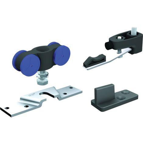 Garniture SAF120 MANTION SAS - Pour porte 120 Kg (2 monture+2 butées réglables+guide 1103+clé) - SAF120