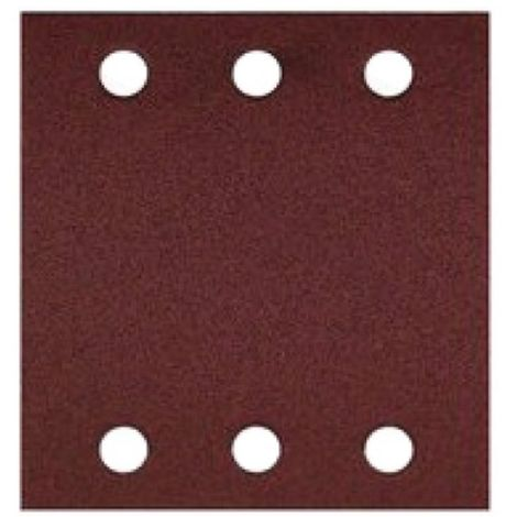 Garnitures papier auto-agrippantes perforées 6 trous 115x107 mm grain 60 paquet de 10 feuilles