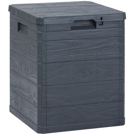 Garten-Aufbewahrungsbox 90 L Anthrazit