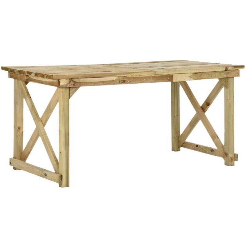 Gartentisch 160×79×75 cm Holz