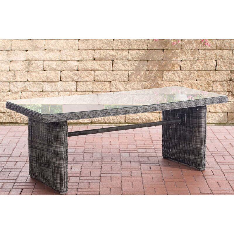 Garten Esstisch Fontana XL-rund/graumeliert - CLP
