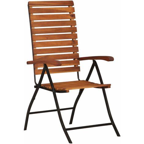 Garten-Liegestühle 2 Stk. Akazienholz Massiv